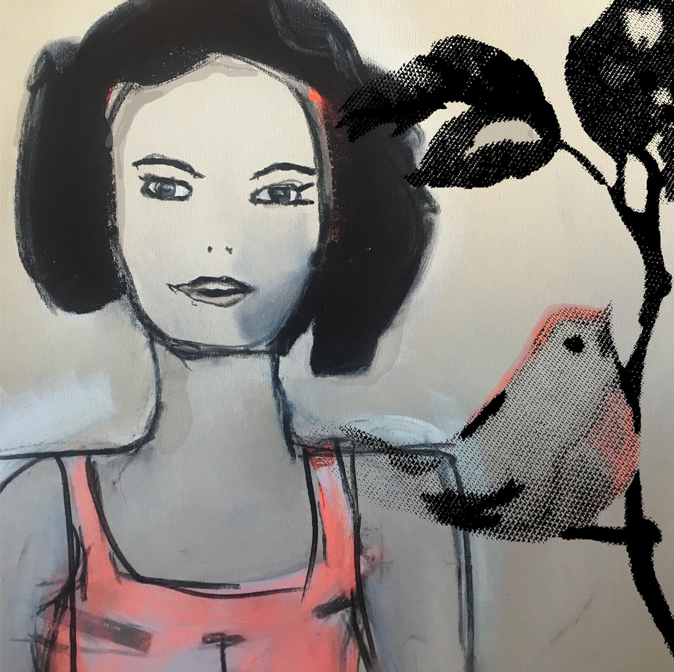 Maleri av en kvinne