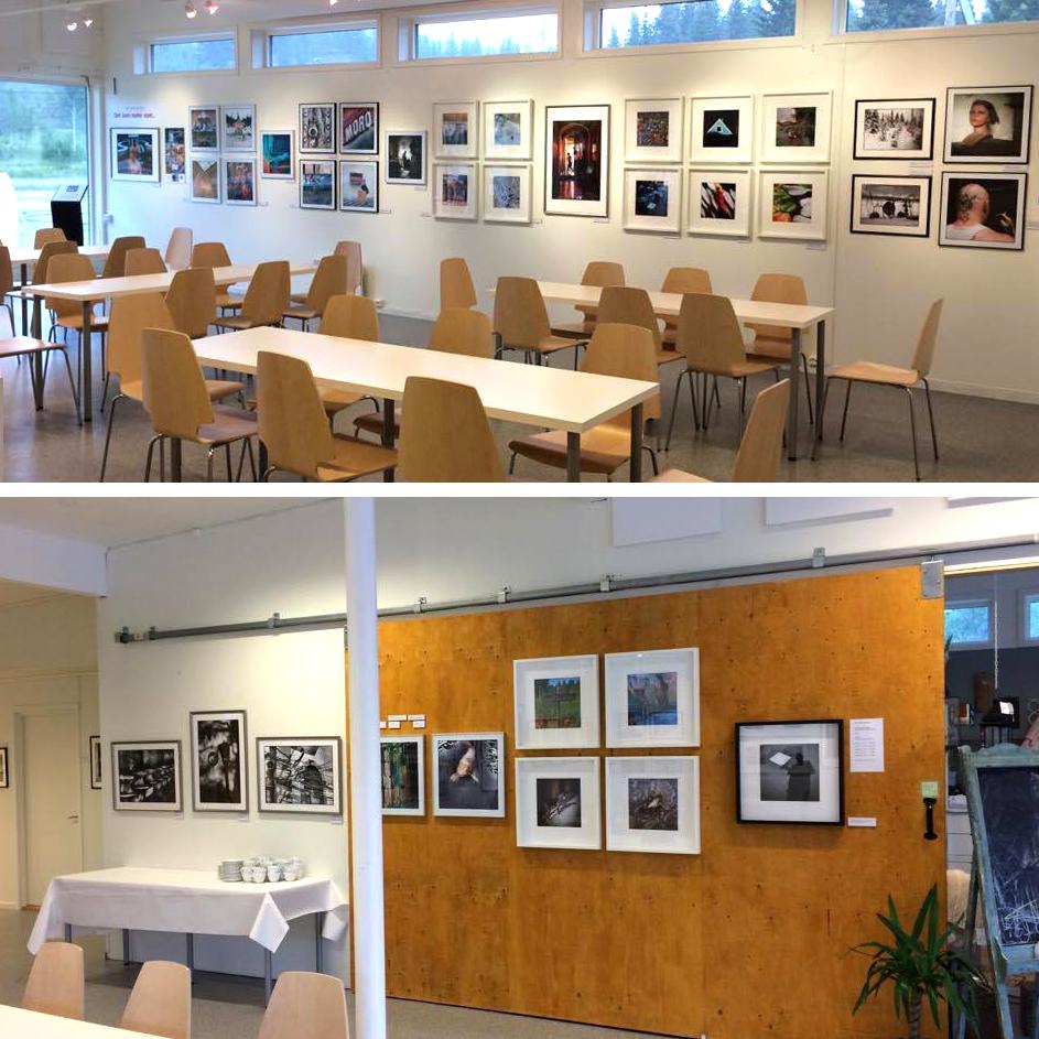 Sammensatte bilder av galleri og utstillinger